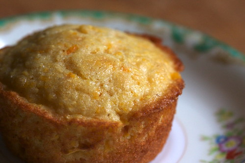 Corn and Orange- the muffin