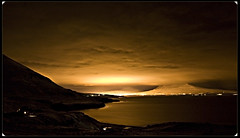 A city that never sleeps? (IngoBG) Tags: sea mountains clouds iceland akureyri mywinners superbmasterpiece superbmasterpice