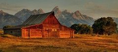Timeless Morning at the Barn (Jeff Clow) Tags: morning barn landscape bravo timeless grandtetonnationalpark jacksonholewyoming moultonbarn mywinners goldstaraward jeffrclow