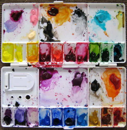 My watercolor palette.