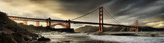 Golden Gate Panorama (Revised) (Josh Sommers) Tags: ocean sanfrancisco california bridge sea panorama storm clouds golden gate waves dramatic goldengatebridge bayarea hdr eyecatching tonemapped weekendamerica dphdr