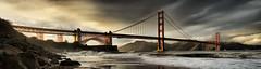 Golden Gate Panorama (Revised) (Josh Sommers) Tags: ocean sanfrancisco california bridge sea panorama storm clouds golden gate waves dramatic goldengatebridge bayarea hdr eyecatching tonemapped weekendamerica dphdr
