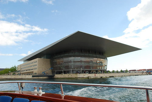 Copenhagen opera house as seen from the water