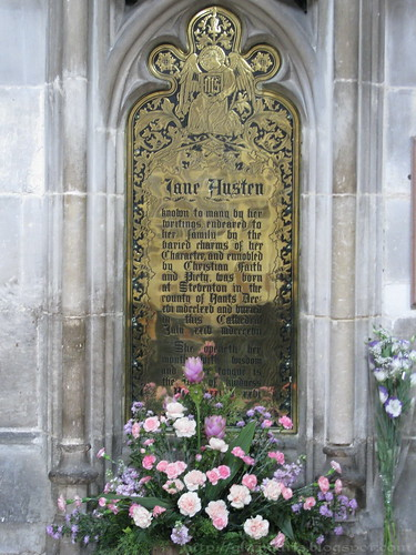 Jane Austen memorial plaque