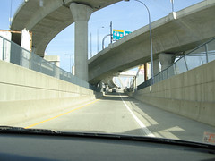 Freeway to the  Lenny Zakim Bridge