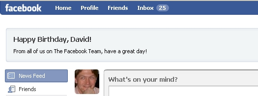 Facebook Happy Birthday Greeting - 05/14/09