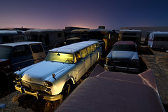 Airport limousine (TakenPictures) Tags: auto nightphotography lightpainting classic car airport automotive junkyard checker limousine aerobus hollywoodrentals