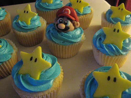 Mario and Star Cupcakes Super Mario Bros