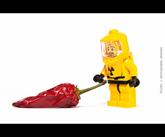 126/365 Radioactive chilli ... it seems to be hot (photography.andreas) Tags: red portrait hot macro canon germany pepper deutschland photography lego minimal simplicity series 365 minifig minifigs chilli product simple saarland minifigure canonef50mmf18ii project365 httpcreativecommonsorg produktfotografie eos40d canoneos40d urweiler httpphotographyproject365wordpresscom