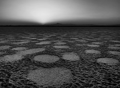 Planet Earth II (monochrome) (ssj_george) Tags: leica sunset sky bw white mountain lake black nature monochrome lens landscape lumix high pattern dynamic sundown natural circles horizon salt cyprus dry panasonic saltlake dried scape range hdr dmc larnaca superzoom stavrovouni  georgestavrinos   fz38 fz35 ssjgeorge  giorgosstavrinos