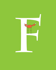 CharlemagneFfoxWhiteLetter (Ferntree Studio) Tags: baby cute art animal kids modern illustration studio print children fun kid colorful child contemporary room nursery cartoon f fox kawaii alphabet etsy angela ferntree traunig