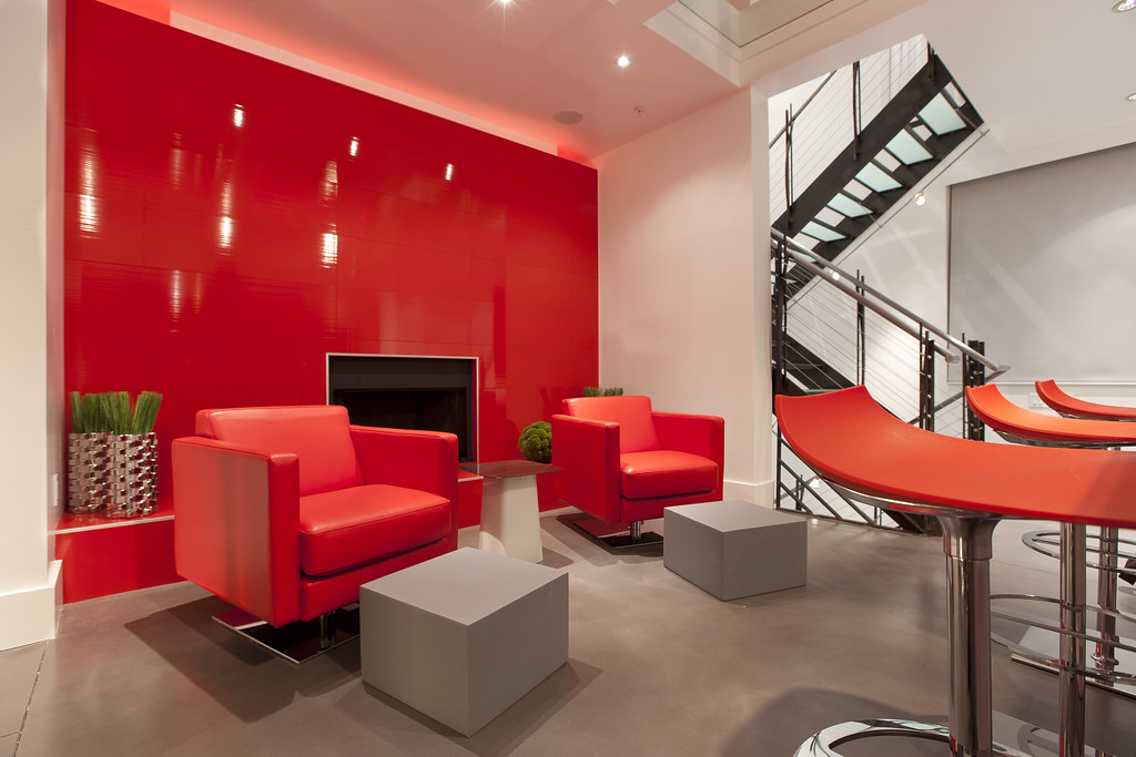 Red Modern Living Space, San Francisco