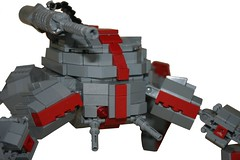 Spyder Tank: Front (Brian Rinker) Tags: spider blood war tank lego attack machine creation walker cannon guns ba build wolves own moc faction atin my brickarms