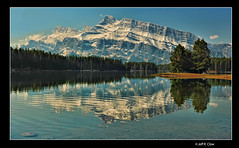 Two Jacks Lake (Jeff Clow) Tags: lake mountains reflection mountrundle albertacanada banffnationalpark canadianrockies twojacklake nikond700 nikkor2470mmf28 gpse
