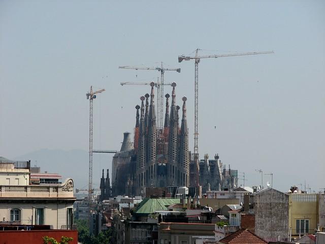 Вид с крыши Casa Mila