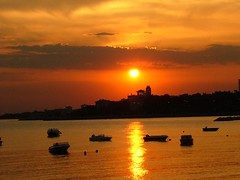 (deger) Tags: sunset sea sky orange colour turkey istanbul deger