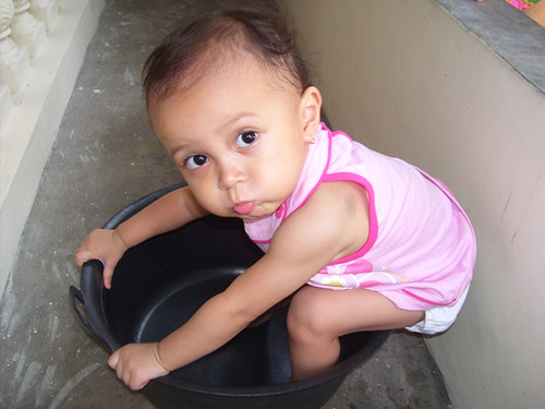 A Child and Her Bucket