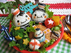 sailor man bento box (luckysundae) Tags: kawaii bento sailor obento sailorman japanesebento kyaraben