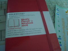 Weekly Planner + Notebook 2008