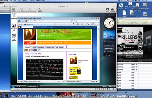 Windows Vista on Mac OS/X with VMware Window mode