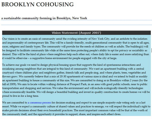 Brooklyn Cohousing