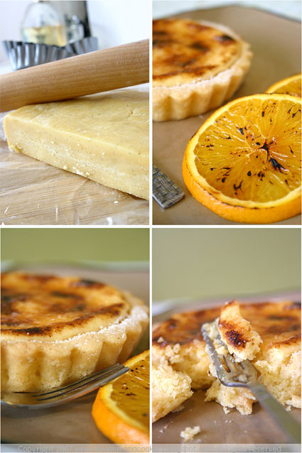 Glazed Lemon Tart with Caramelised Oranges