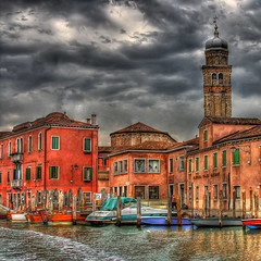 Murano Storm II (vgm8383) Tags: venice italy storm tower glass clouds canon boats island rebel boat canal store dock bricks belltower murano venezia blownglass stormclouds watertaxi windvane venetianglass venicecanals boatdock smrgsbord glassfactory xti 25faves golddragon 400d rebelxti superaplus aplusphoto diamondclassphotographer flickrdiamond theunforgettablepictures venetianglassfactory
