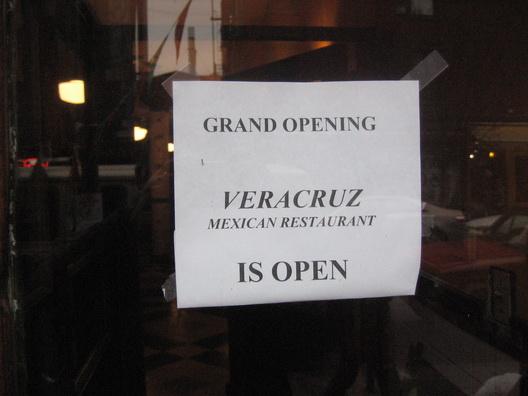 Vera Cruz is Open Sign