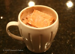 Chocolate Marshmallow in Hot Chocolate