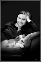 Caroline and Charlie (m1ke_best) Tags: beagle photoshop canon caroline charlie bwdreams 400d scoremefast