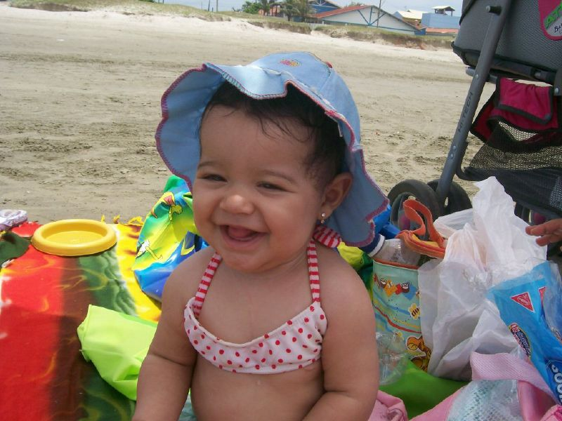Giovanna na praia
