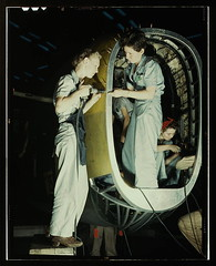 Riveters at work on fuselage of Liberator Bomber, Consolidated Aircraft Corp., Fort Worth, Texas  (LOC)