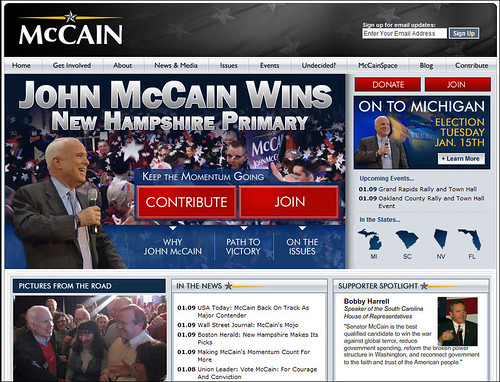 John McCain for President Campaign Website