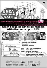 1101 unza warehouse sale malaysia