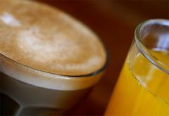 breakfast sunday (poppalina) Tags: morning orange coffee up breakfast early milk wake juice sunday australia melbourne latte caffe shula poppalina pc3012