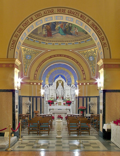 Saint Mary of the Barrens Roman Catholic Church, in Perryville, Missouri, USA - Shrine of the Miraculous Medal - view