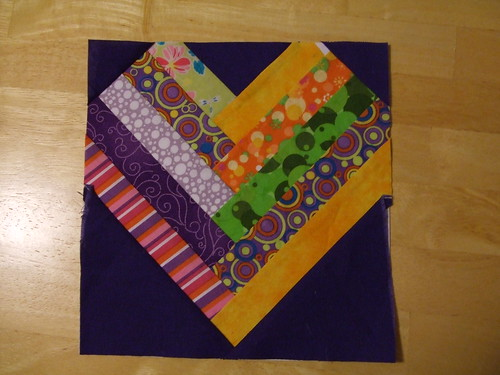 Heart Paper Piecing Square
