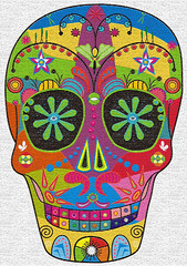 calaverita * happy skull (Camille Hart) Tags: life new pink blue orange cute green eye art love colors beautiful beauty smile true dead mexico spiral skull friend pattern purple transformation symbol magic abril dream 420 muerte mexican april draw ilusion monada patron 2012 hinton calavera magia    mexicanart mysticism glck monads schdel lykke monad   monism monismo colourartaward magicpower hintonjennie