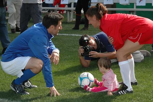 mia hamm soccer. Nomar Garciaparra and Mia Hamm