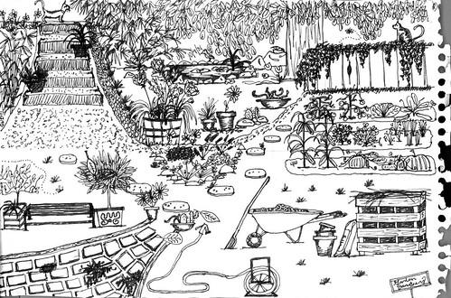 doodle: backyard
