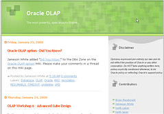 Oracle OLAP Blog