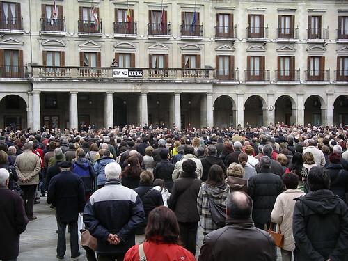 Concentración contra ETA en Gasteiz