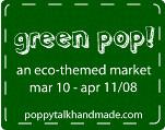 Green Pop! (egg & dart) Tags: green spring market designs etsy eco gloaming poppytalk