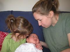 Emerson holding Phoebe