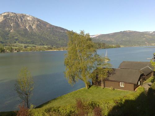 Blick aus meinem Fenster in Strobl am Wolfgangsee, BIFEB