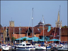 St Lawrence and St Mary le Tower (Simon_K) Tags: beautiful port docks suffolk waterfront urbandecay cider quay wharf orwell docklands development isaacs ipswich urbanrenewal wetdock eastanglia quayside urbanwasteland ransomes neptunequay orwellquay wherryquay regattaquay aspalls rnborwell cliffquay