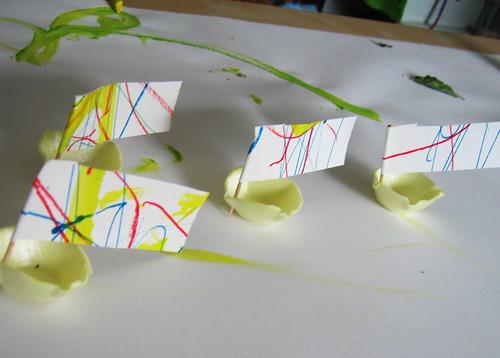 Egg Carton Boats 1
