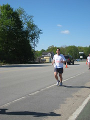 Daddy finishing the race