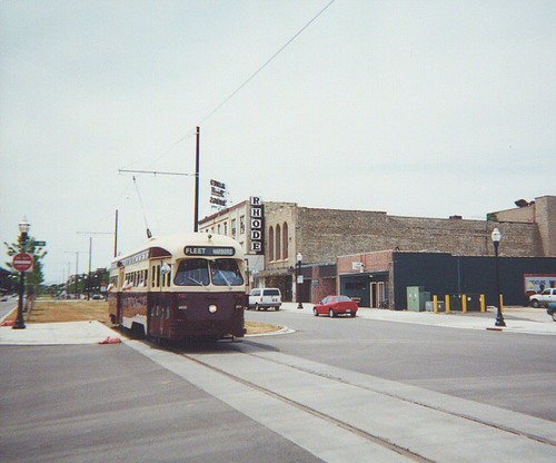 Eastbound former Toronto Transit Commision PCC Streetcar on 56th Street during the opening day. Kenosha Wisconsin. Saturday, June 17th 2000. by Eddie from Chicago