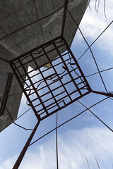 Caged. (Sean Hartwell Photography) Tags: wire cage rust concrete sky box blyth